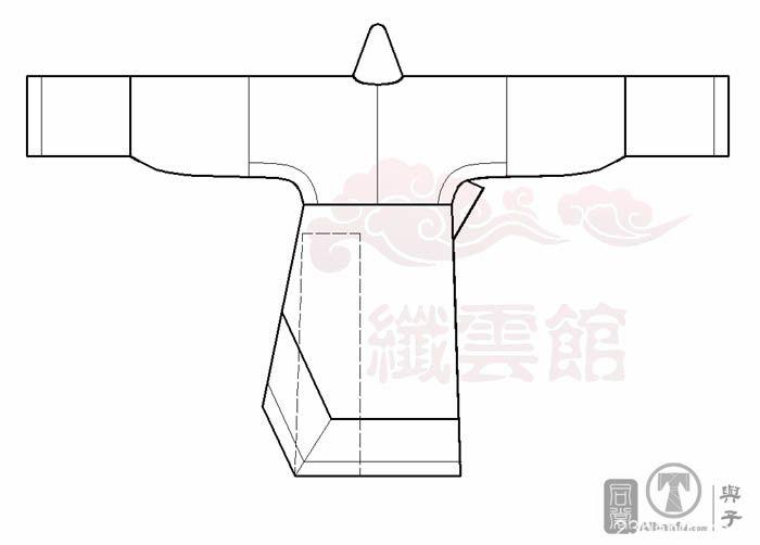 西汉单绕曲裾裁剪分析